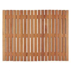 PAPUA Natural wooden bath mat