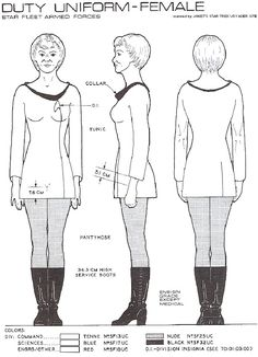 Star Trek Uniform Pattern Spanish instructions but Google translate did OK