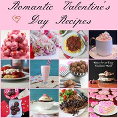 Happy Valentine's Day! Here is a round up of some romantic, mouth watering, unique V-day recipes from me and my blogger friends.