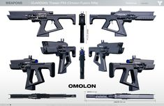 ArtStation - Destiny: Omolon Fusion Rifle ( game-resolution), Milton Cadogan