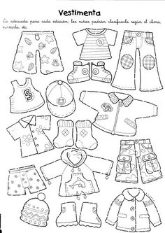 Best 11 My on going lesson of clothes started with paper dolls. I have a set I keep and a print out for the kids. I combined the doll with a dice of seasons for our Seasons & Weather lesson. Classroom Activities, Toddler Activities, Felt Dolls, Paper Dolls, Weather Lessons, Flat Stanley, Kindergarten, English Activities, Busy Book