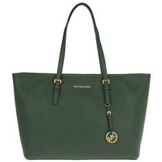 Michael Kors Handle Bag - Jet Set Travel MD TZ Multifunction Tote Moss... (12.305 RUB) ❤ liked on Polyvore featuring bags, handbags, tote bags, green, holiday tote bags, tote handbags, green tote, travel tote and white handbags