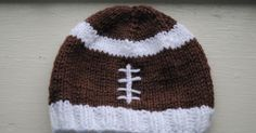 One of my friends at school/work asked me to make his 3 month old son a football hat.  He told me that his wife really liked the other two I...