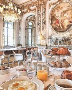 The 10 Best Brunch Spots In Paris, France Hotel Paris, Paris Hotels, Paris Restaurants, Le Meurice, Parisian Chic Style, French Bakery, Brunch Spots, Aesthetic Food, Coffee Time