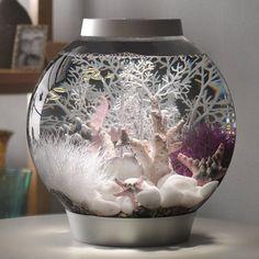 Baby biOrb Classic 4-Gallon Moonlight Silver Aquarium 45634 @ Fish Tanks Direct