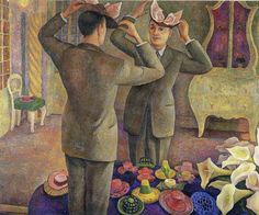The milliner, portrait of Henri de Chatillon, Diego Rivera (1944)