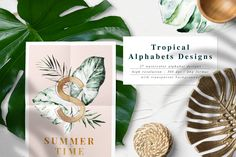 Lush-Summer Graphic Set ~ Illustrations ~ Creative Market, graphic design, branding, web design #ad