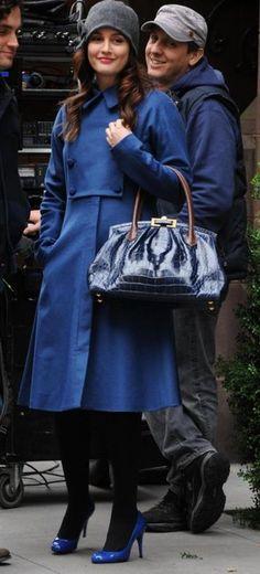 Gossip Girl Blair's blue Outfits