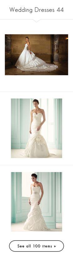 """Wedding Dresses 44"" by singlemom ❤ liked on Polyvore featuring dresses, wedding dresses, bride, wedding, wedding dress, intimates, mori lee, vestidos, fillers and long dresses"