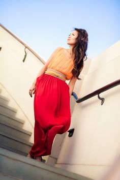 Sunset :: Orange trapeze & Crimson flare : Wendy's Lookbook