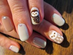 Owl Mani - by Nail Haco Melissa Reid I know u will love this!