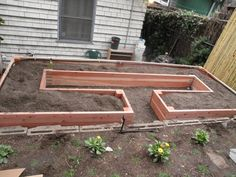 Raised planting beds to maximize growing space.