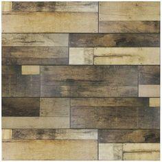 "EliteTile Lena 7.88"" x 23.63"" Ceramic Wood Tile in Beige"