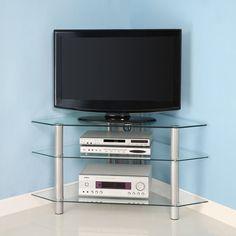 Walker Edison Bermuda 44-Inch Corner TV Stand