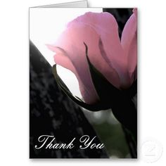 Single Pink Rose Thank You Cards