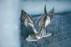 Inbal Dror Glamour For An Elegant Black Tie Wedding At Babington House Wedding Shoes Heels, Bride Shoes, Black Tie Wedding, Wedding Day, Wedding Planner Uk, Babington House, Sophia Webster Shoes, London Wedding, Inbal Dror