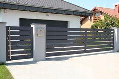 Front Wall Design, House Fence Design, Fence Gate Design, Railing Design, Backyard Garden Design, Gate Designs Modern, Modern Fence Design, Modern Driveway, Balcony Grill Design