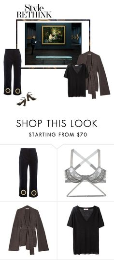 """""""Untitled #2629"""" by amberelb ❤ liked on Polyvore featuring Fantasia, Jacquemus, Lonely, Lauren Manoogian, Organic by John Patrick and Erdem"""