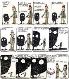 Macanudo Liniers. Siempre es nuestro sueño, pero algunas veces no aparece nadie y morimos aplastados.
