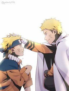 """In my mind older Naruto is saying """"Don't worry everything is going to be okay in the end"""""""