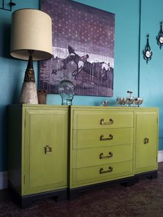 Painted Art Deco Sideboard Buffet