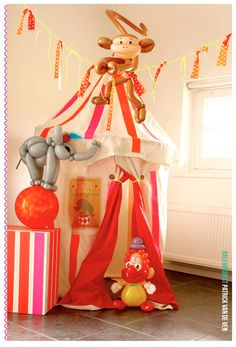 #diy tutorial step by step how to make an easy circus tent for the kids #playhouse