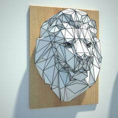 Lion Head Wall Hanging Free Paper Craft Download - http://www.papercraftsquare.com/lion-head-wall-hanging-free-paper-craft-download.html#Head, #Lion, #WallHanging