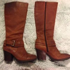 Born BOC Leather Boots Brown Born Boots. Very comfortable and super cute! Born Shoes Heeled Boots
