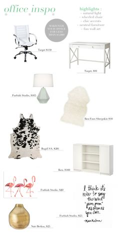 HOW TO: Style Your Office for less than $1,000 !