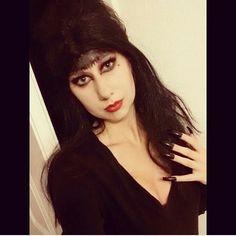 Elvira inspired makeup  #elvira #makeup #mistressofthedark