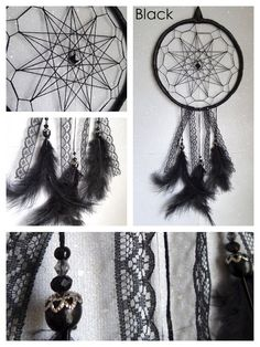 Brand new! Modernly designed, geometric web, Dream Catcher.  Awesome in Black, Steampunk brown & White! With stunning beads, feathers and bead