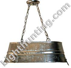 galvanized tub hanging light fixtures