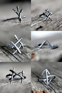Rune rings.