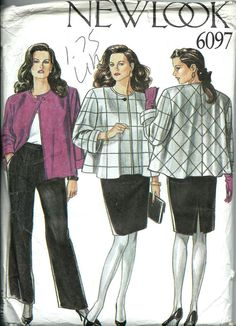 New Look 6097 Misses Tent Jacket Slim Skirt by DawnsDesignBoutique