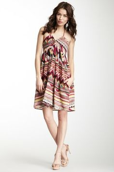 M Missoni Contrast Halter Print Dress by Non Specific on @HauteLook