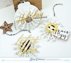 Snowflake Tags by Betsy Veldman for Papertrey Ink (September 2015)
