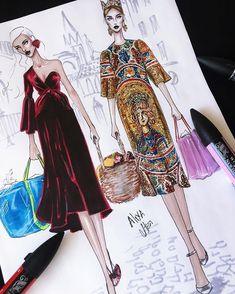 #drawing #sketch #fashion #dress #art #fashiondesign #fashionblogger #fashionart #dessin #instafashion #in #style #fashionsketches #sketches #drawings #fashionillustration #dress  #illustration #instagood #artwork #hautecouture #haute #couture #designer #fashionweek #figurine #mode #croquis #aquarelle #colors #couleurs  #model #vogue #details #tissu #artist #show #accessoires