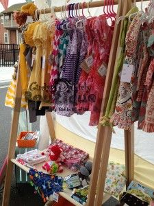 Curly Girly Boutique's craft fair booth at Holland Happening.  http://curlygirlyboutique.com