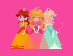 Nintendo Princesses by Tinysnails Super Mario Princess, Nintendo Princess, Princess Games, Princess Art, Princess Power, Mario Kart, Mario And Luigi Games, Princesa Daisy, Princesa Peach