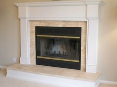Travertine Traditional Fireplace traditional-living-room