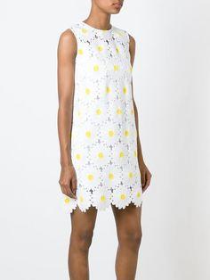 DOLCE & GABBANA  daisy embroidered shift dress