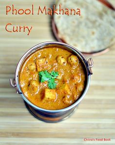 Phool makhana curry,Phool makhana gravy recipe,Side dish for roti,Makhana recipes
