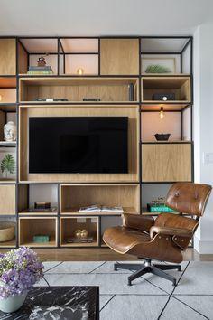 Ideas For Pallet Furniture Living Room Shelves Wall Decor Metal Furniture, Living Room Furniture, Home Furniture, Furniture Design, Pallet Furniture, Industrial Furniture, Rustic Furniture, Bookshelves In Bedroom, Living Room Shelves