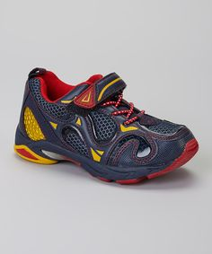Take a look at this Navy & Red Turtle Tuff Sneaker on zulily today!