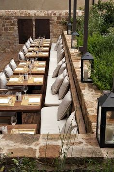 New Outdoor Cafe Seating Design Restaurant Ideas Cafe Restaurant, Outdoor Restaurant Patio, Restaurant Seating, Outdoor Cafe, Restaurant Concept, Restaurant Furniture, Outdoor Seating, Restaurant Ideas, Restaurant Lighting