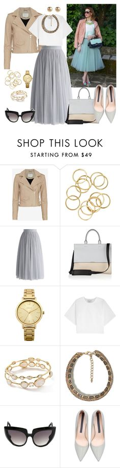 """""""City Style Tulle"""" by dazzlious ❤ liked on Polyvore featuring IRO, Chicwish, Victoria Beckham, Oasis, 3.1 Phillip Lim, Ippolita, Zara, Barn's and Jules Smith"""
