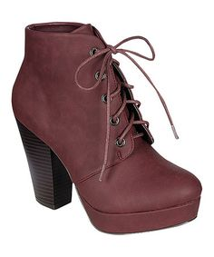This Oxblood Huxley Bootie by Bamboo is perfect! #zulilyfinds