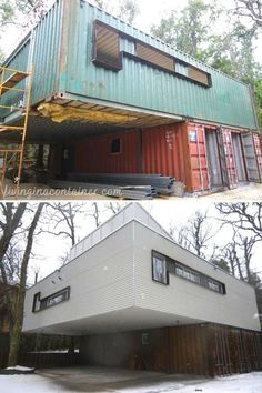 Sea Containers, Sea Container Homes, Casas Containers, Building A Container Home, Storage Container Homes, Container House Plans, Container House Design, Shipping Container Homes, Tiny House Design