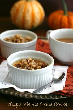 Low Carb Maple Walnut Creme Brûlée Recipes and surviving the holidays on a restricted diet.