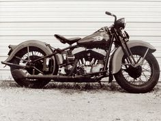 flathead harley | Black and white shot after restoration was complete